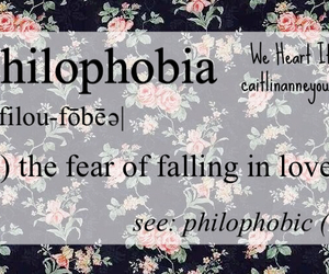 phobia, love, and falling in love image