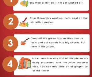 carrot juice recipe, how to make carrot juice, and benefits of carrot juice image
