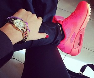air max, shoes, and girl image