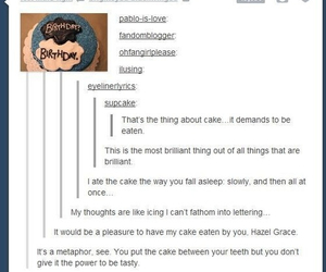 tfios, cake, and the fault in our stars image