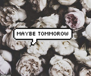 flowers, maybe, and quote image