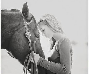 girl, horse, and love image