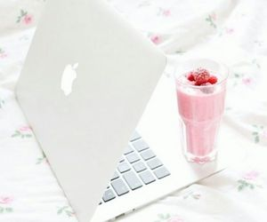 apple, pink, and smoothie image