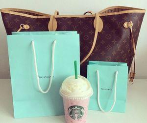 bag, Louis Vuitton, and starbucks image