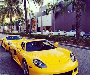 luxury, car, and yellow image