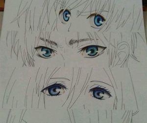 eyes, shingeki no kyojin, and anime image