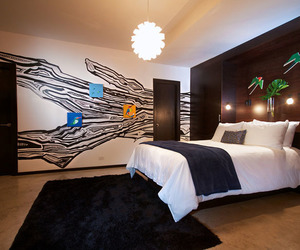 bed cover, white bed sheet, and hotel & resort image