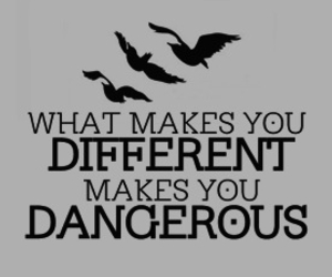 divergent, different, and dangerous image