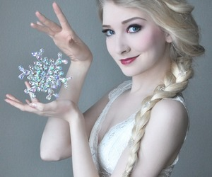anna, beautiful, and ice image