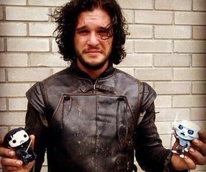 jon snow, game of thrones, and kit harington image