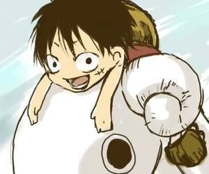 one piece, anime, and going merry image