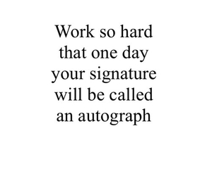 quote, signature, and work image