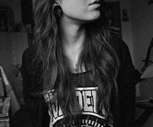 photo, black and white, and girl image