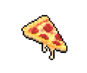 pizza, food, and pixel image