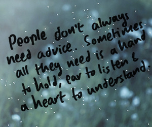 quote, heart, and advice image