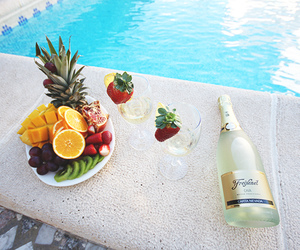 fruit, pool, and water image