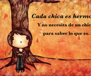 beautiful, frases, and girl image