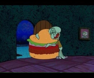 burger, cartoon, and hug image