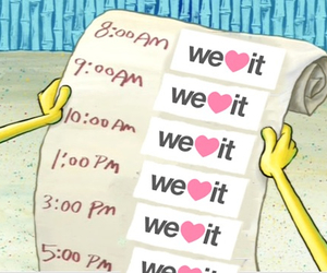we heart it, weheartit, and spongebob image