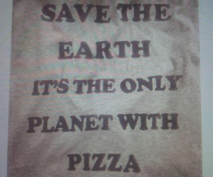 pizza, planet, and earth image