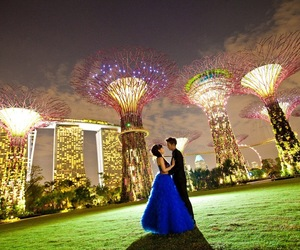 lights, romantics, and gardens by the bay image