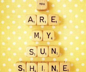 love, sunshine, and yellow image