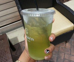 drink, nails, and green image