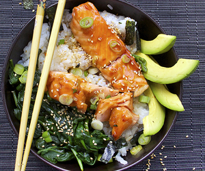 avocado, japanese, and rice image