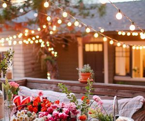 flowers, light, and home image