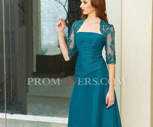 floor length, wedding guest dress, and lace mother dress image