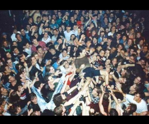 crowd, pearl jam, and stage diving image