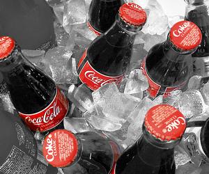 coke, ice, and coca cola image