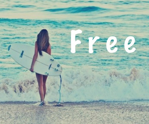 free, summer, and girl image