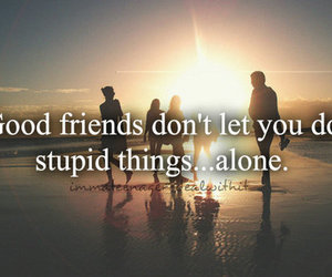 friends, quote, and alone image