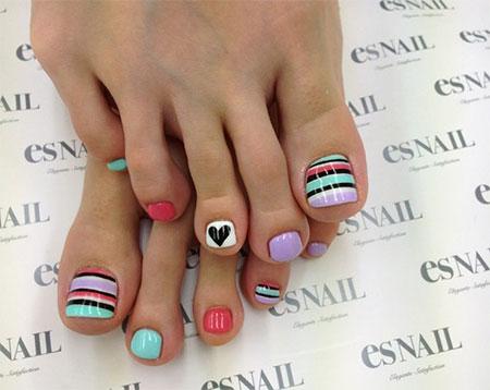Easy Cute Toe Nail Art Designs On We Heart It