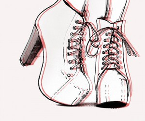 shoes, drawing, and heels image