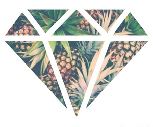 diamond, ananas, and fruit image