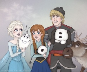 disney, olaf, and friends image