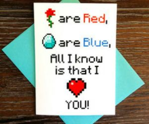 blue, red, and love image