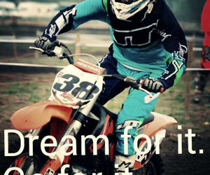Dream, live, and motocross image