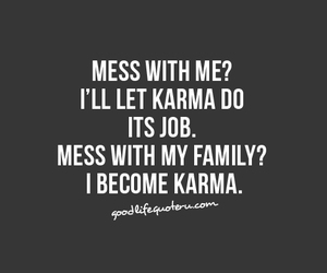 karma, family, and quote image