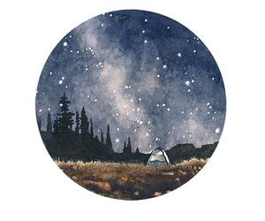 art, stars, and night image