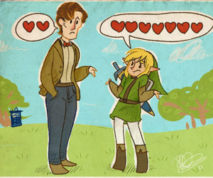 link, hearts, and doctor who image
