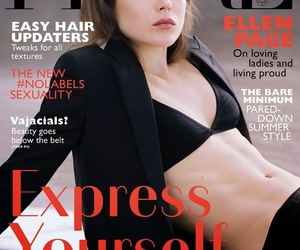 flare magazine and ellen page image