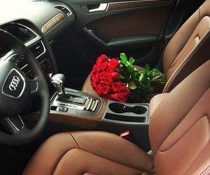 rose, car, and audi image
