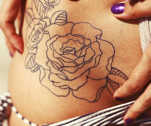 flower, hip, and tattoo image