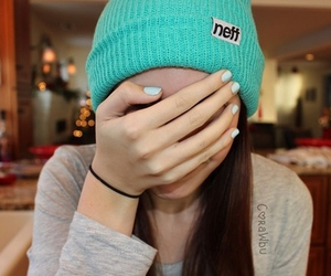 girl, neff, and beanie image