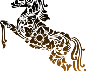 animal, horse, and chinese style image