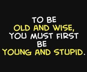 quotes, young, and stupid image