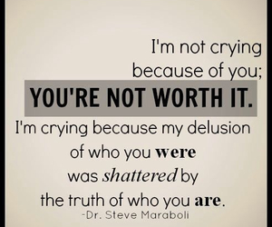 quote, truth, and crying image